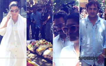 Reema Lagoo's Funeral: Aamir Khan, Kiran Rao, Kajol, Rishi Kapoor Pay Their Last Respects To The Veteran Actress