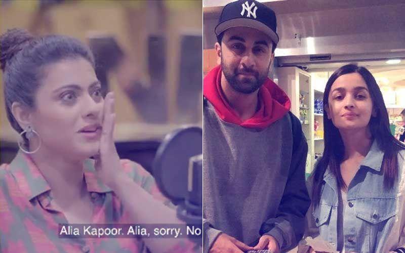 """Video: रणबीर कपूर की गर्लफ्रेंड आलिया भट्ट को जब काजोल ने कह दिया """"आलिया कपूर"""""""