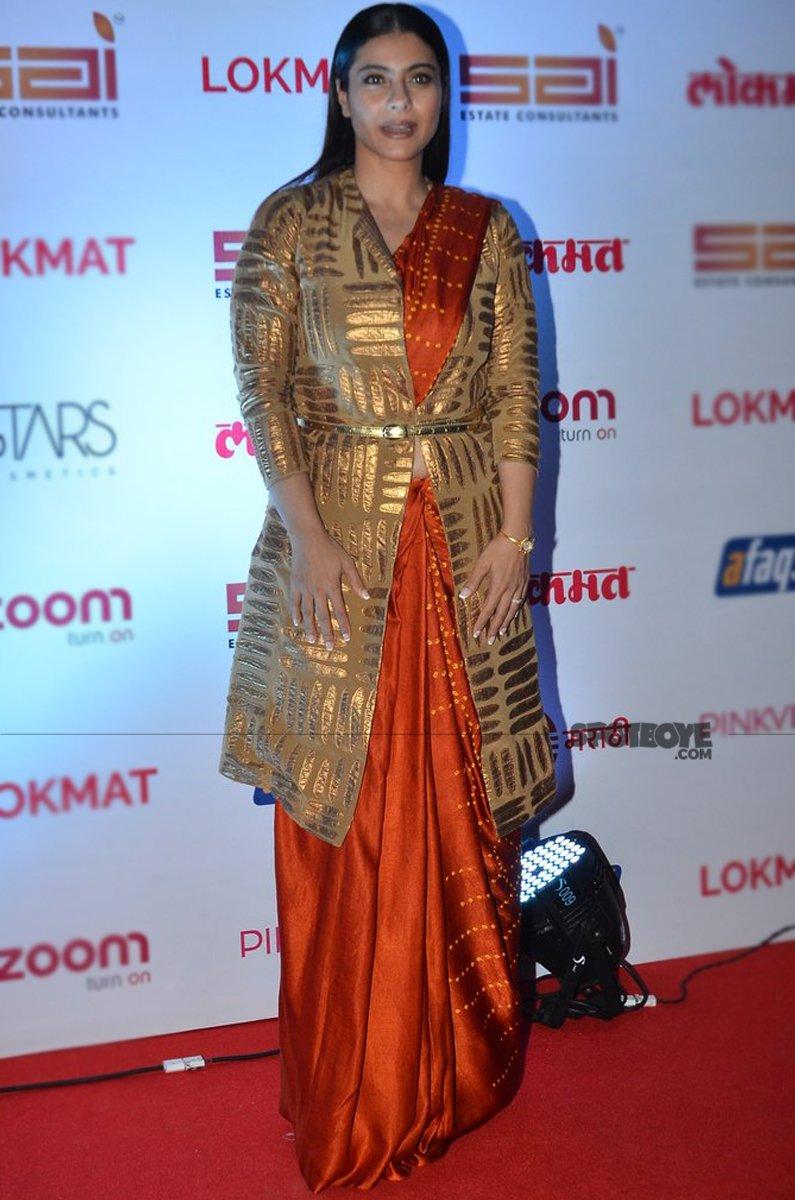 kajol at lokmat awards