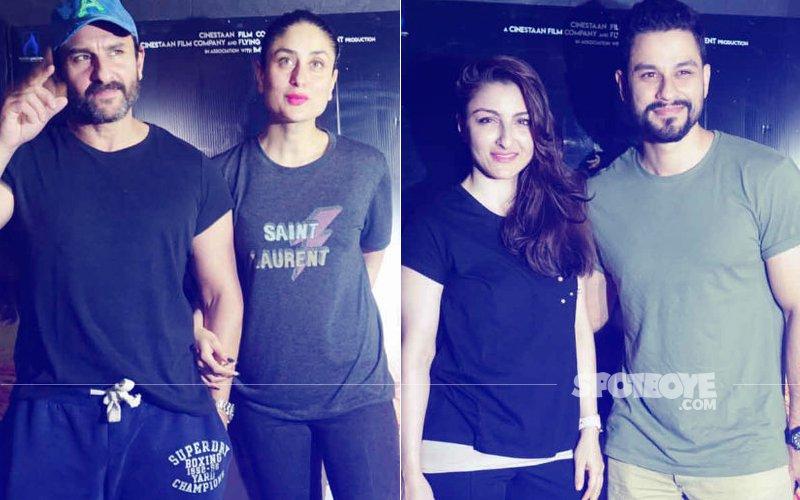 PICS: Kareena Kapoor, Soha Ali Khan & Kunal Kemmu Attend Saif's Kaalakaandi Screening