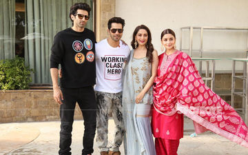 Kalank Promotions: Varun Dhawan's Josh Seems To Be Quite High; Alia, Madhuri, Aditya Stay Calm