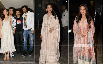 Kalank Special Screening: Alia, Varun, Sonakshi, Aditya Are All Smiles, Karan Johar Flaunts His Perfect Pout