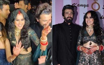 Kamya Panjabi Wedding Reception: Just-Married Kamya And Shalabh Dance To Dhol Beats With Son Ishaan – SWAGGY VIDEO