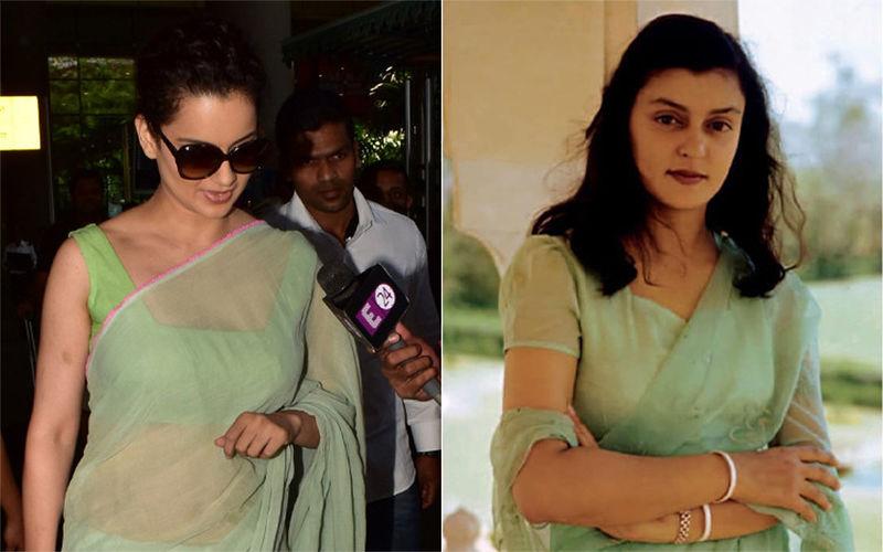 Is Kangana Ranaut's Love For Sarees And Pearls Inspired By Maharani Gayatri Devi?