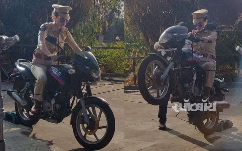 मेंटल है क्या के सेट पर बाइक के साथ स्टंट करती दिखाई दी कंगना रनौत, तस्वीरें आई सामने