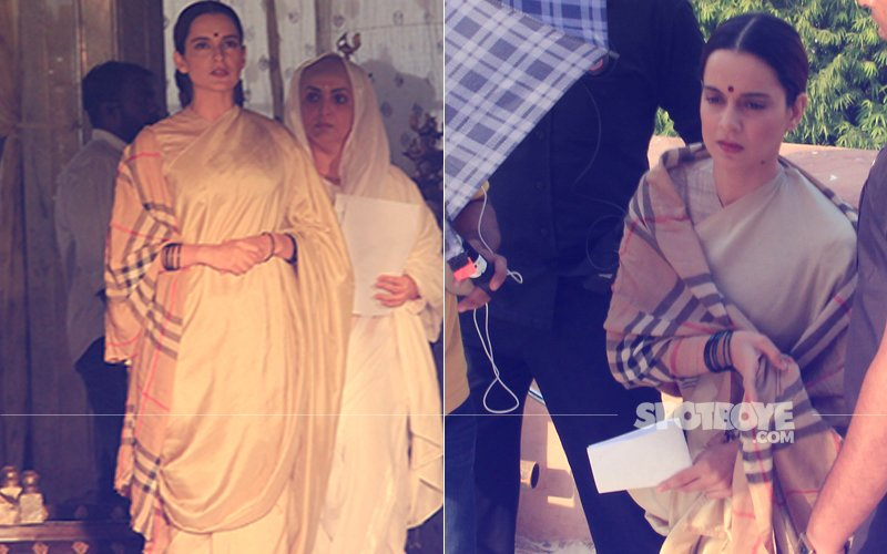 PICS From The Sets Of Manikarnika: Kangana Ranaut Dons Rani Laxmibai's Look