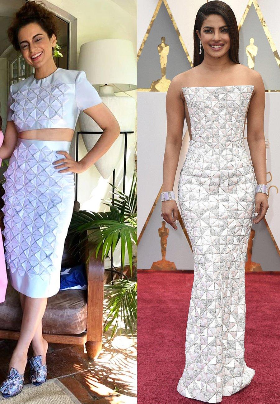 kangana ranaut and priyanka chopra similar outfit