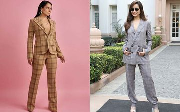 Kangana Ranaut And Shraddha Kapoor Rock Their Film Promotions With Similar Checkered Pantsuits, Actresses Give Total Boss Lady Vibes