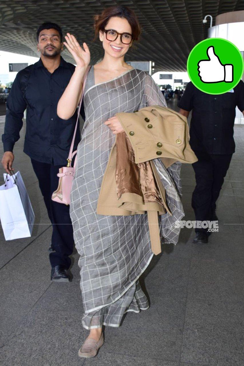 kangana ranaut at the airport