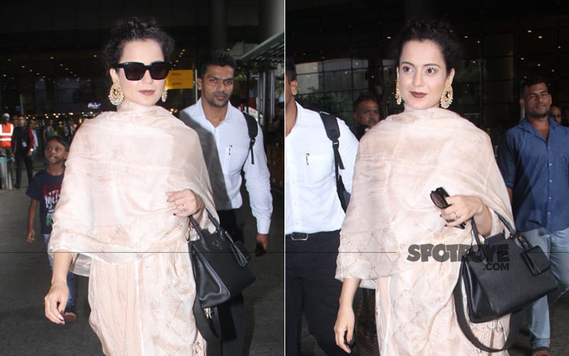 Kangana Ranaut Makes A Stylish Appearance At The Mumbai Airport  After Her Work'cation' In Rajasthan