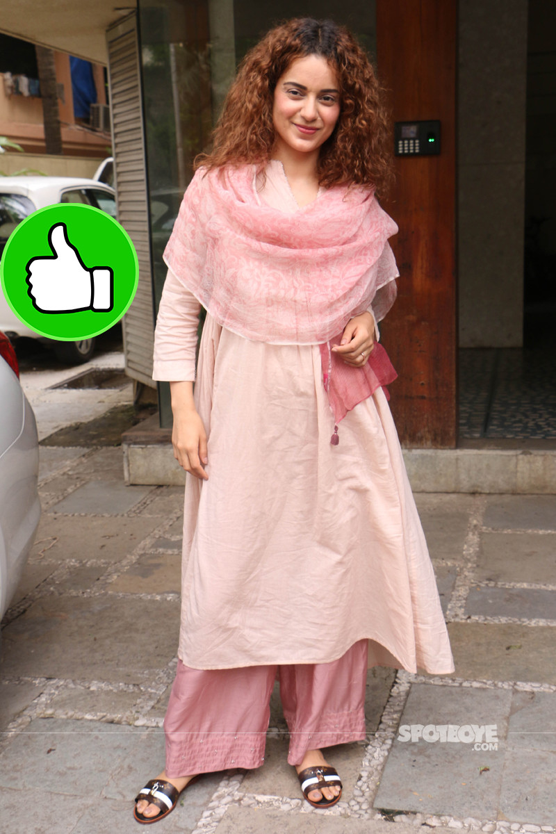 kangana ranaut snapped post meeting