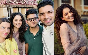 Kangana Ranaut Radiates Happiness As She Celebrates Brother Aksht's Pre-Wedding Function In Udaipur With Family- PICS AND VIDEOS