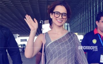 AIRPORT DIARIES: We are Totally Digging Kangana Ranaut's Saree-Clad Look