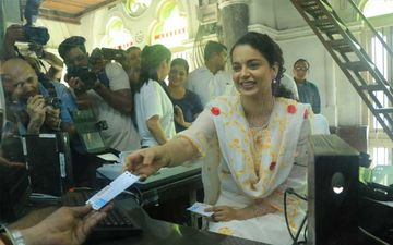 Ahead Of Panga Trailer Release, Kangana Ranaut Turns Ticket Seller At CST Station – Watch Video