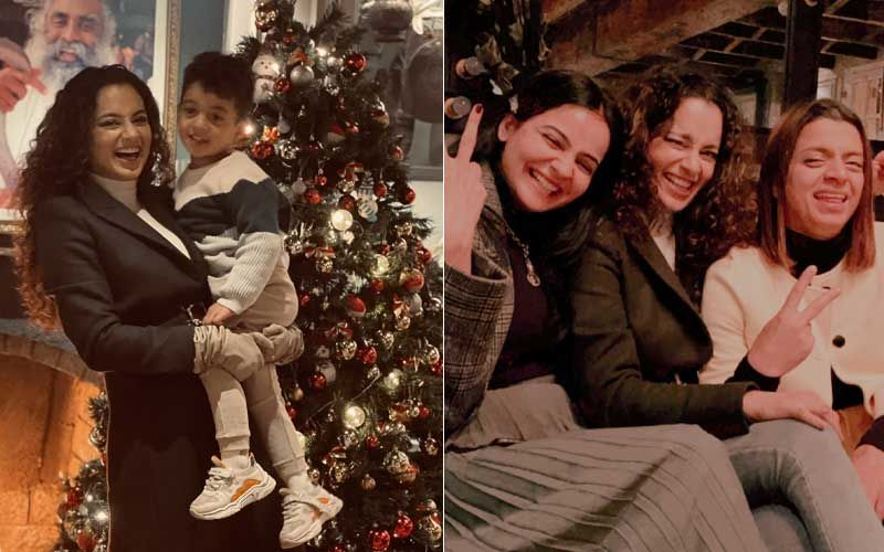Kangana Ranaut Wishes Fans With Pictures From Her Christmas Celebration With Sister Rangoli and Sis-In-Law; Trio Binge On Gajar Ka Halwa