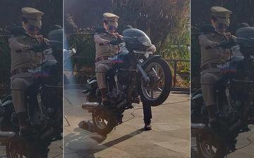 Kangana Ranaut In Khaki; Performs A Sexy Wheelie Stunt For Mental Hai Kya