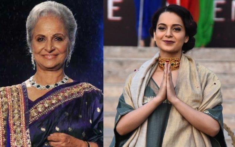 मणिकर्णिका: मनोज कुमार के बाद अब वहीदा रहमान भी बनी कंगना रनौत की फैन, कहा- गर्व है उनपर
