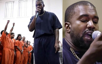 Kanye West Performs A Secret Concert At Harris County Jail In Houston - Watch Video