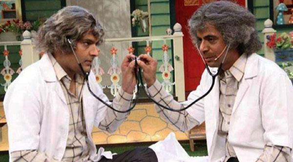 kapil sharam and sunil grover on the kapil sharma show