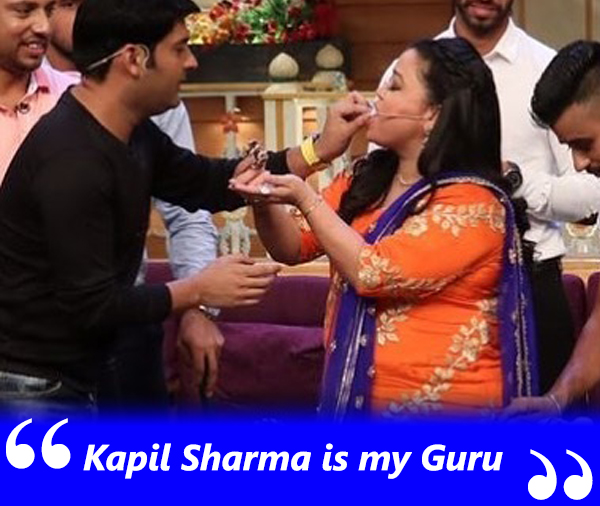 kapil sharma and bharti singh on the kapil sharma show
