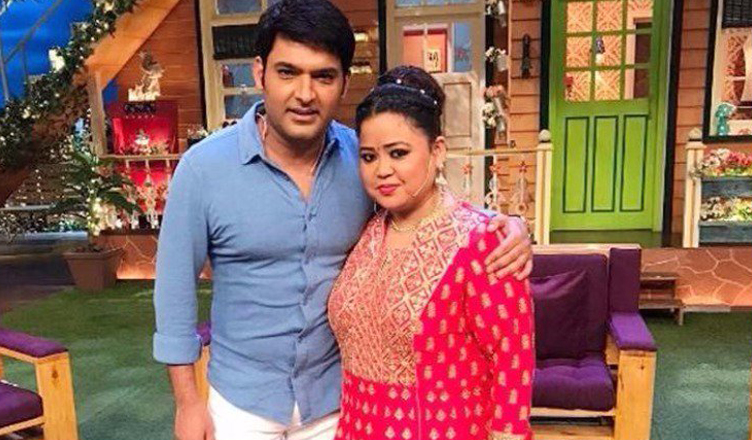 kapil sharma bharti singh pose for the paps