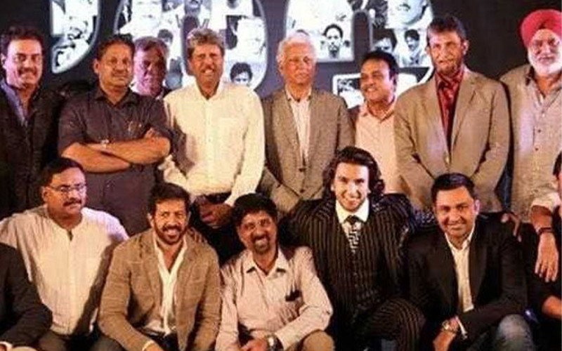 Ranveer Singh with the 83 team