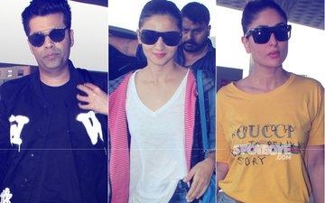 AIRPORT SPOTTING: Karan Johar, Alia Bhatt, Kareena Kapoor Up The Style Quotient