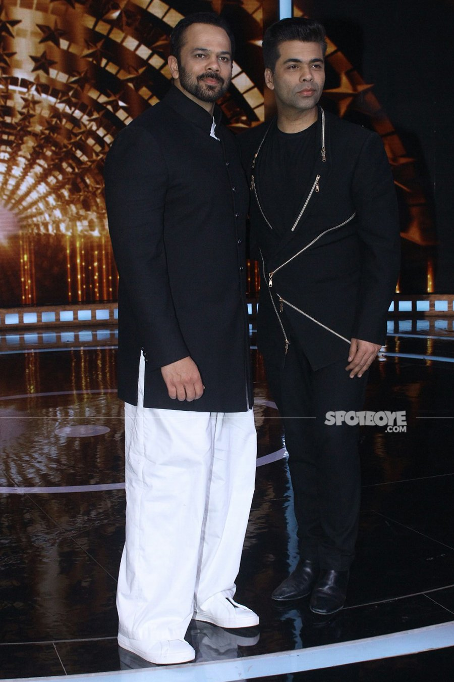 karan johar and rohit shetty on sets of indias next superstar