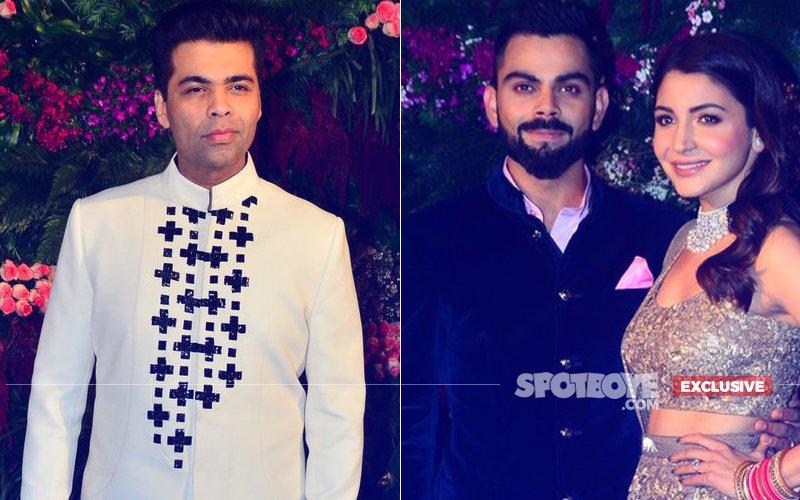 Karan Johar Made A Special Request To Anushka Sharma At Her Mumbai Reception. Guess What?