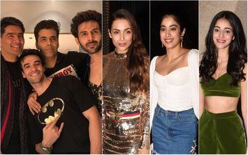 Karan Johar, Malaika Arora, Janhvi Kapoor, Kartik Aaryan, Ananya Pandey Have A Blast At Punit Malhotra's House Bash - INSIDE PICS