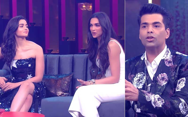 """Alia Is In A Relationship With Ranbir"" Says Karan Johar; Deepika Padukone Interrupts, ""Don't Make It Awkward Because It's Not"""