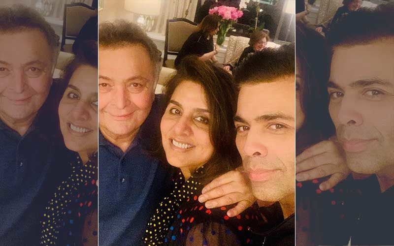 "Karan Johar Gives ""Tightest Hug And Longest Kiss"" To Rishi-Neetu Kapoor As He Drops In At Their New York Apartment"