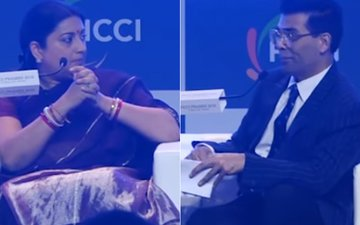 WATCH: Smriti Irani Leaves Karan Johar Speechless; Says, 'Filmmakers Create Controversies To Grab Attention'