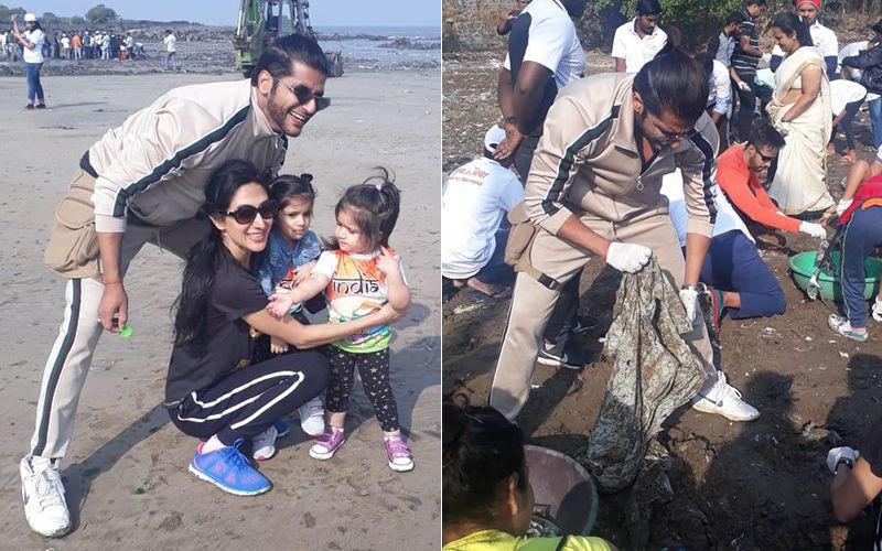 करणवीर बोहरा ने गणतंत्र दिवस के मौके पर अपनी बेटियों को दी स्वच्छता की सीख