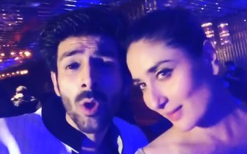 Kareena Kapoor Blushes; Kartik Aryan Sings 'Ban Ja Tu Meri Rani' For Her