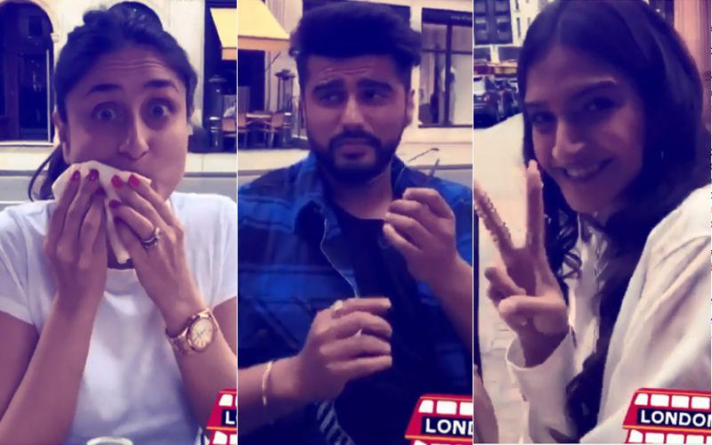 Video: Kareena-Sonam-Rhea-Arjun Gobble Up Pizza On London Streets
