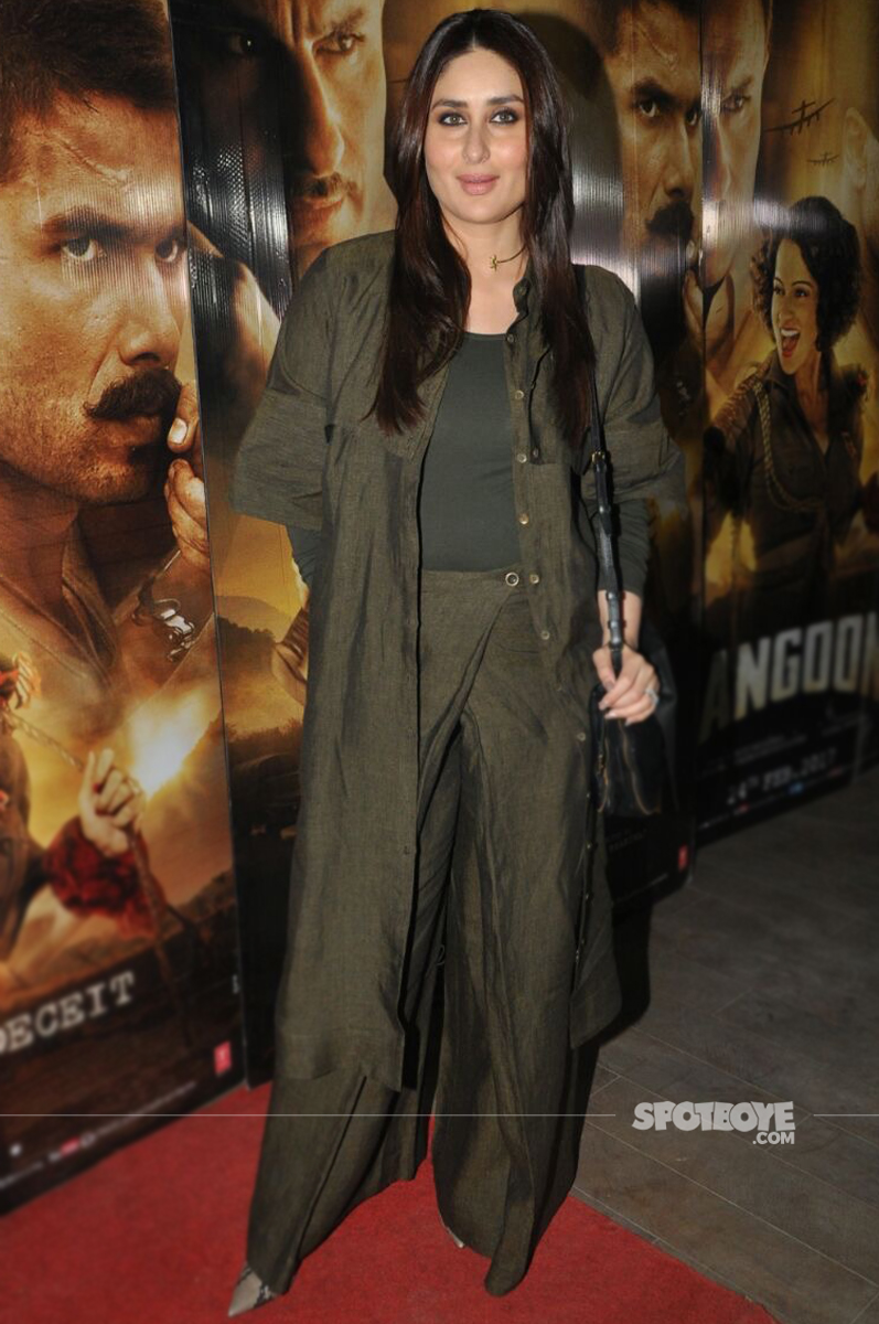 kareena kapoor at the special screening of rangoon