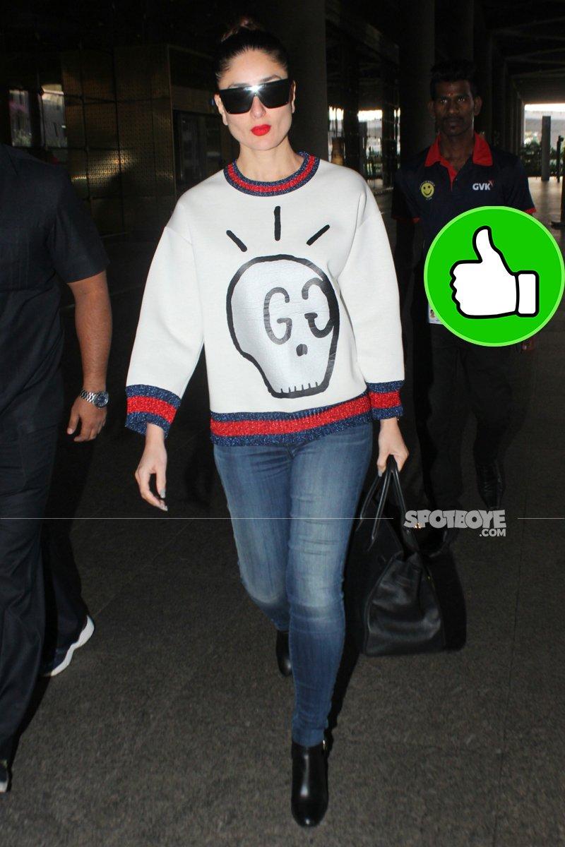 kareena kapoor clicked at mumbai airport