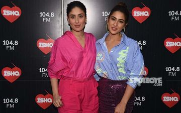 Kareena Kapoor Khan And Sara Ali Khan Paint A Pretty Picture Together As They Shoot For Bebo's Show - PICS