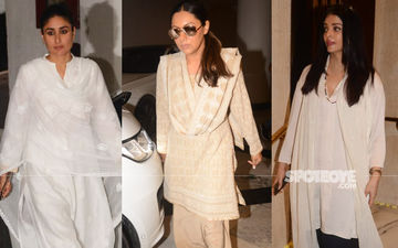 Kareena Kapoor Khan, Gauri Khan, Aishwarya Rai Bachchan, And Others Arrive At Manish Malhotra's House To Offer Their Condolences