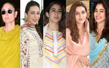 Kareena Kapoor Khan, Karisma Kapoor, Sara Ali Khan, Kriti Sanon, Janhvi Kapoor Make Ethnic Wear The New Travel Gear!