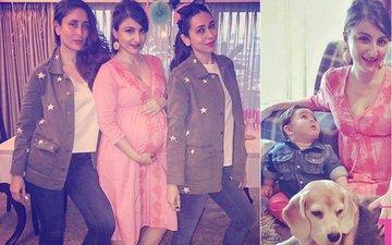 SEE PICS: Kareena Kapoor, Baby Taimur & Karisma Kapoor At Soha Ali Khan's Baby Shower