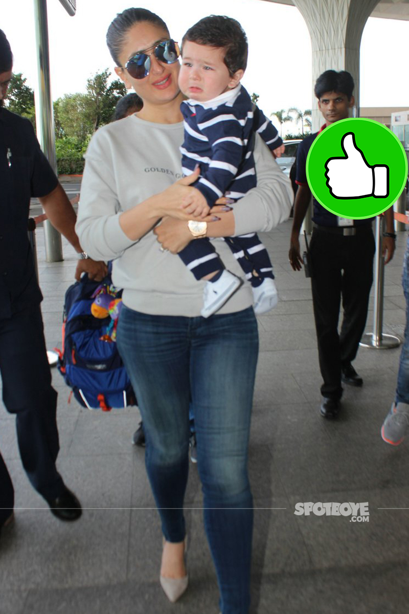 kareena kapoor khan with baby taimur at the airport