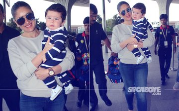 SEE PICS: Baby Taimur Throws A Tantrum At The Airport As Kareena Kapoor Looks On