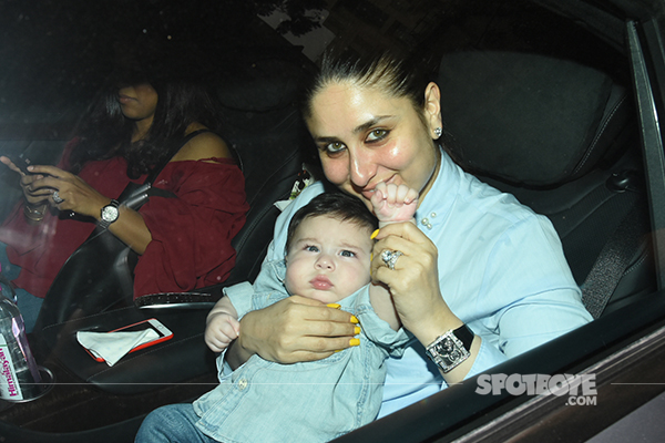 kareena kapoor with son taimur ali khan at lakshya kapoor birthday party