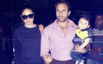 IN PICS: Saif Ali Khan & Kareena Kapoor Are Back From Their Swiss Holiday With Adorable Taimur