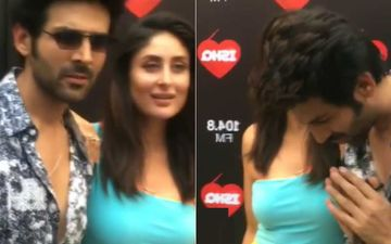 Kartik Aaryan Wears Sunglasses Posing With Kareena Kapoor Khan; Lady Asks WHY? His Response Is All Sorts Of Funny