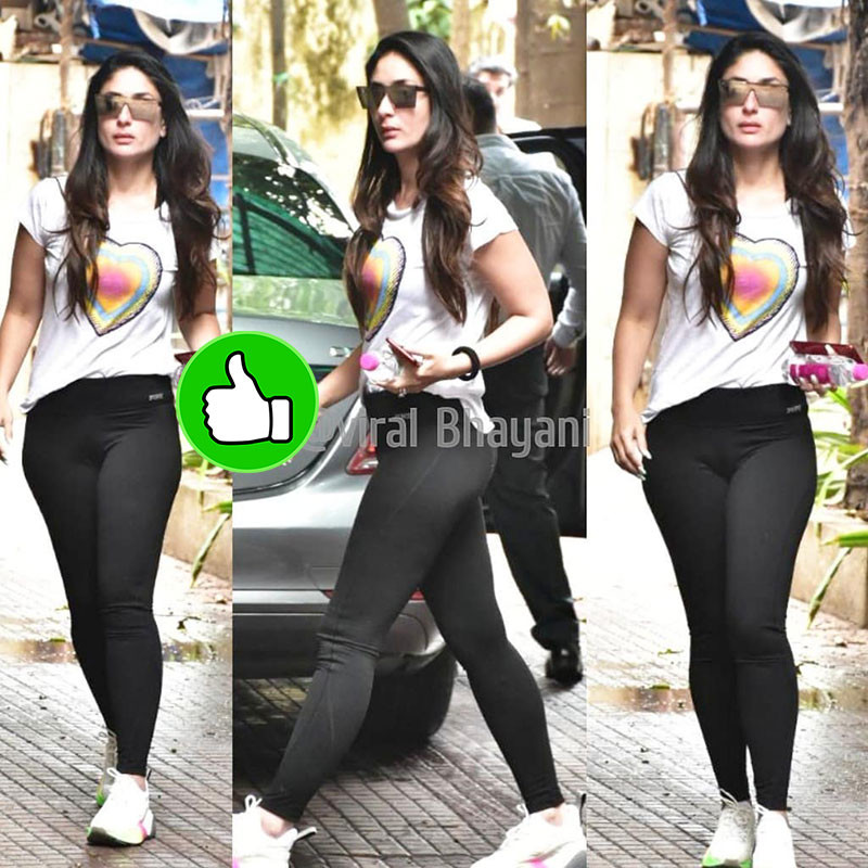 kareena spotted at gym