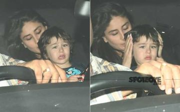Poor Little Taimur Ali Khan Seems Upset Over Something; Mama Kareena Kapoor Khan Consoles Her LO - Pics