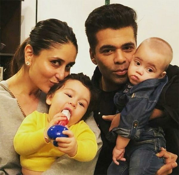 Kareena And Taimur With Karan And Roohi